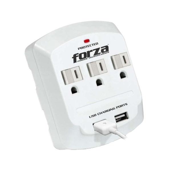 protector, eléctrico, forza, fwt-730usb, picos, refrigeradora, cocina, pantalla
