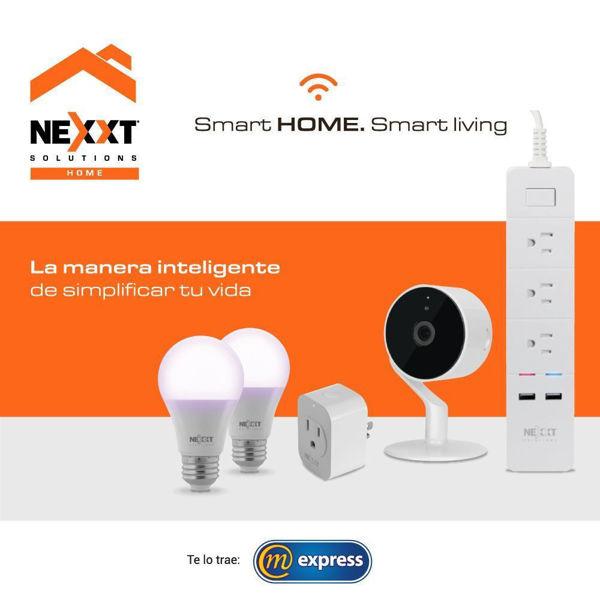 kit, smart, home, nexxt, tr2bc, bombillo, camara, conector, regleta, inteligente